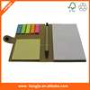 Promotional blank paper notebooks combined sticky notes, ballpen and lock