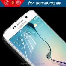 New Arrival Glossy Crystal 0.125mm Screen Protective Protector for Samsung Galaxy S6 Anti Scratch LCD Screen Film Guard