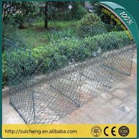 High Quality Galvanized Gabion Boxes / PVC Coated Gabion Baskets / Stone Cage (Factory)
