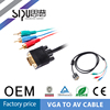 SIPU Factory supply best price color code vga cable