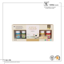 High Quality Wholesale 6Colors 25 ml Artist Acrylic Paint Set For Students