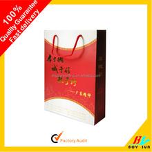 New design fashion Cotton Handle Paper Shopping Bag