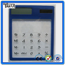 2015 hot sell novelty design promotional gift desktop pocket transperent mini solar calculator