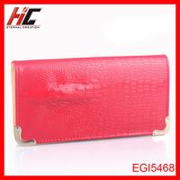 Hot sale Crocodile pattern animal skin long model frame wallets