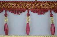 cheap curtain bead tassel fringe