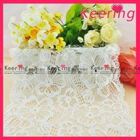 bulk white flower guipure french lace fabric from keering with cheaper price WLC-115