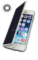Mobile Phone Cover 2800mAh,solar Backup Power Bank External Battery Charger Case with flip For iPhone6