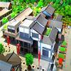 Handmade 3d model for tourism planning building wooden models