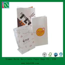 Snack greaseproof printed kraft paper bag packaging