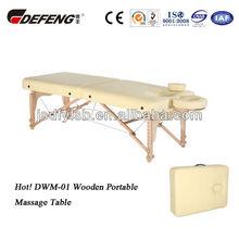Hot! DWM-01 Wooden Portable Massage Table
