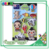 New Style High Quality Material Colorful Good Adhesive Pvc Fridge Sticker For Kids