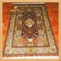122x183cm custom weave loom pure silk carpet and rug