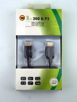 Black HDMI to HDMI cable for xbox360, HDMI for HDMI splitter