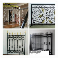 Top-selling outdoor ornamental wrought iron picket yard fencing