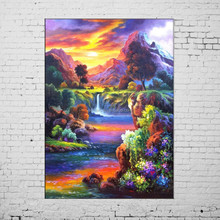 Hand Painted Picture Beautiful Landscape Modern Wonderland Paintings Drawings To Paint Oil Painting