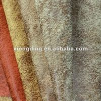 100%poly gold stamping suede fabric for sofa cover and home textile