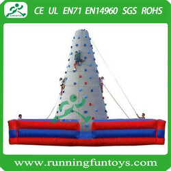 Kids artificial climbing wall, indoor inflatable climbing wall