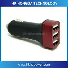Triple 12 V/24 V In Car Charger Adapter With 3 USB Port