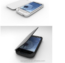 4000mAh Battery Charger Case for Samsung Galaxy S3 with Leather Cover