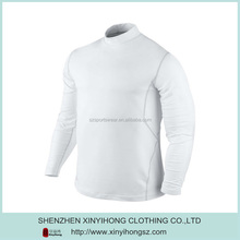 Custom private brand compression t-shirt with flat lock stitching