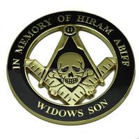 wholesale round skull masonic car Emblems