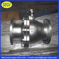 DN25 10K JIS Standard Cast Iron Flanged End Soft Seal 2 pc Ball Valve