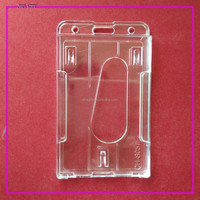 two cards Vertical clear Badge ID card Holder