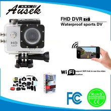 2015 newest 1.5 inch waterproof 30 m wifi remote action camera