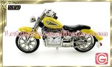 Polished zinc alloy Motorcycle novelty clock