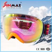 New stylish good quality racing ski google, green ski goggle, adult ski goggle with great price