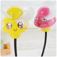 PC Cooling Companion Mushroom Style USB Small Fan Quiet and Safe PVC Soft Blade Fan Electrical Fan Cute Gadget