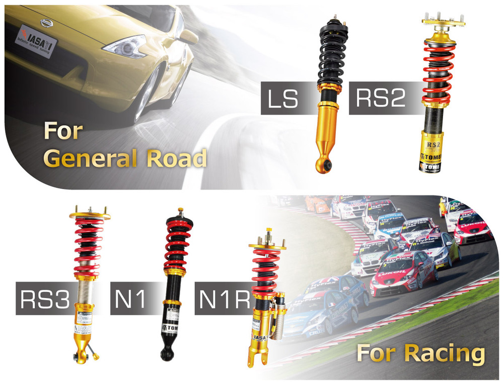 Auto Parts Suspension kit Shock Absorber for option car RS2 Type