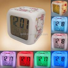 square shape led digital alarm clock for students