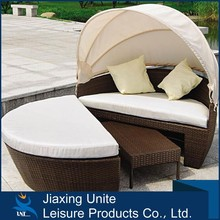 Hot sale round rattan daybed, outdoor daybed canopy, metal daybed sofa buy direct from china factory
