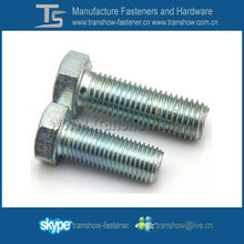 ASME B18.2.1 ASTM A307 Grade A steel hex head bolt