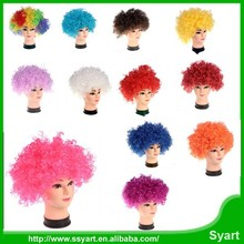 Explosive Head Wig Short Curly Child dummy Show Party Wigs Fancy Crazy Hair for Halloween