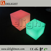 Best sale outdoor ip65 glowing 16 color wireless control led luminous cube furniture wedding event