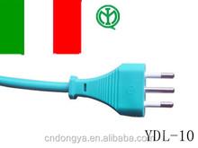 IItaly IMQ three pin power cord plug 16A current
