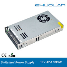 DC 500w 42A 12v constant voltage slim led switching power supply for led display