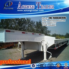 Alibaba China 12 wheels low bed truck trailer, low bed 3 axle semi trailer as model