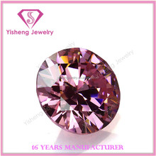Loose Synthetic Pink CZ Stone Series in Normal Round Cut