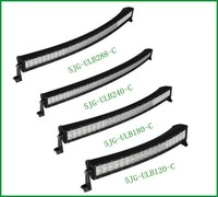 Reliable quality factory wholesale 9-32v Cree heavy duty vehicle led curved light bar 240w 12v ATV curved bar light