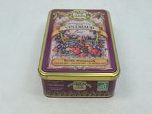rectangular tin cookie jar , hinged cookie tin cans ,Dongguan factory