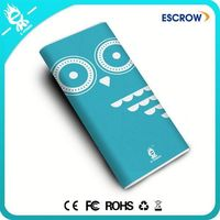Popular Gifts Lovely Owl nini portable Electric mobile power bank 12000 mah