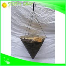 China best quality decor garden corn leaf/flat wicker basket