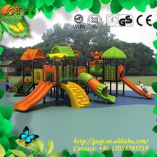 Amusement Park Playground Equipment, Plastic Tunnel Slide, Children Big Play Center GQ-060-A