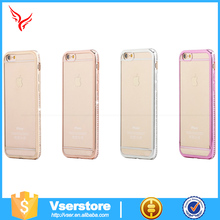 Electroplating Bling tpu transparent clear case for iphone 6 diamond bumper case