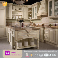 2015 Hot Sale teak carved wood kitchen cabinet solid wood doors competitive price