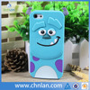 2014 New Arrival 3D Cute Cartoon Monster Design Silicone Cases Cover For iphone 5
