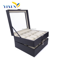 20 slots & 12 slots watch display box,wooden material with pu leather, best quality and new design on the market